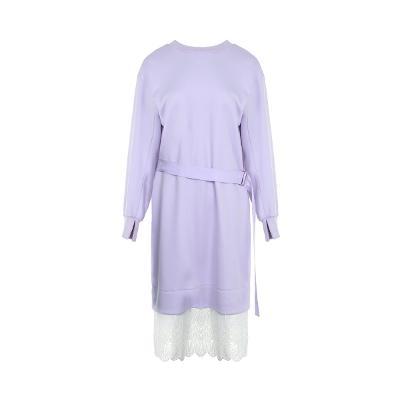 belted layered dress multi